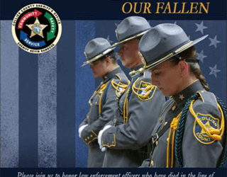 Fallen Officers Memorial Invitation